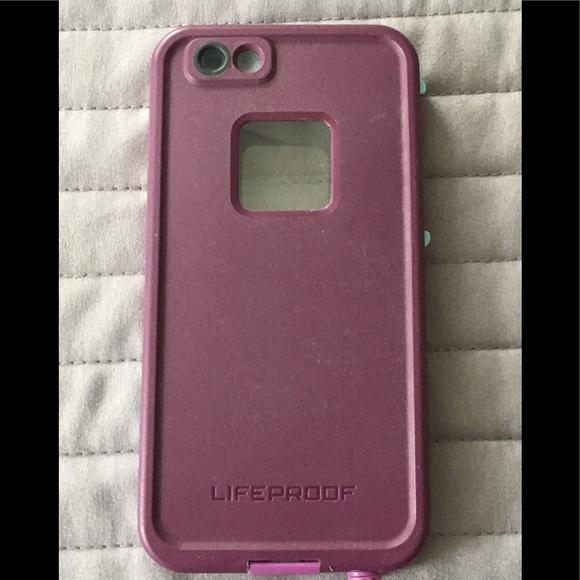 meet 5ae5c f5911 iPhone 6/6s LifeProof crushed purple Fre case